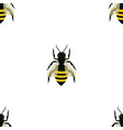 seamless pattern with bees in chess sequence on vector image vector image