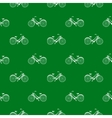 Seamless pattern with repeated images of bicycle vector image