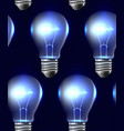 seamless texture with realistic light bulbs in a vector image