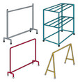 set of cloth rack vector image vector image