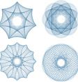 set of four guilloche rosette vector image vector image