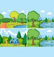 set simple park vector image