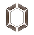 shield in shape of diamond in brown silhouette vector image vector image