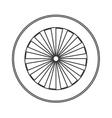 single wheel icon vector image vector image