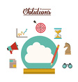 Solution icons design vector image