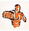 stylized boxer silhouette boxing symbol vector image vector image