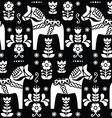 Swedish folk art Dala horse pattern vector image vector image