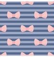 Sweet bow tile wallpaper or decoration background vector image vector image