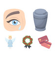 the urn with the ashes of the deceased the tears vector image vector image