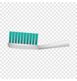 toothbrush icon realistic style vector image vector image