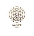 tropical flower logo vector image vector image
