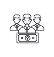 wage line icon concept wage linear vector image vector image
