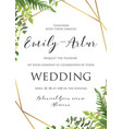 wedding floral invitation invite save the date vector image vector image