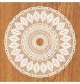 White crochet doily vector image vector image
