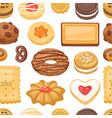 different cookie cake isolated seamless vector image