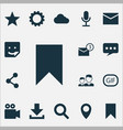 media icons set collection of publish vector image