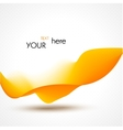 Abstract beautiful wave yellow background vector image