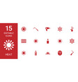 15 heat icons vector image vector image