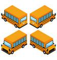 3d design for school bus vector image