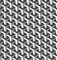 Abstract isometric 3d pattern background vector image vector image