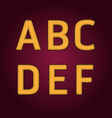 alphabet textile retro college style vector image