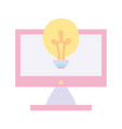 back to school education computer monitor idea vector image