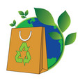 bag of green world vector image