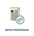 batch processing icon flat sign element from data