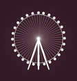 big ferris wheel icon vector image