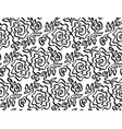 black and white background pattern vector image vector image