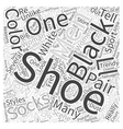 black shoes Word Cloud Concept vector image vector image