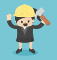 Business Woman engineer architect and construction vector image