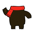 comic cartoon teddy bear body mix and match or add vector image vector image