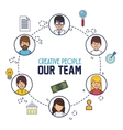 creative people our team vector image