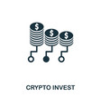 crypto invest icon creative element design from vector image vector image