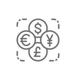 currency exchange foreign money coin dollar vector image