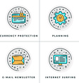 Currency protection planning e-mail newsletter vector image