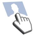 Cursor and profile Design vector image vector image
