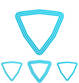 Cyan line triangle logo design set vector image vector image