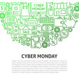 cyber monday line concept vector image