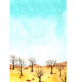 dead tree in land forest environment vector image