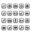 different car part and services icons vector image vector image