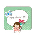 Doodle Couple Valentines vector image vector image