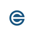 e logo blue rounded vector image