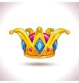Fancy cartoon golden crown vector image vector image