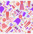 fashion collection of clothes and accessories vector image vector image