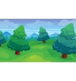 Fir Forest Game Background vector image