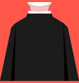 flat style priest silhouette back view vector image vector image