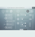 flat ui template vector image vector image