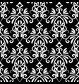 floral damask seamless pattern vector image vector image